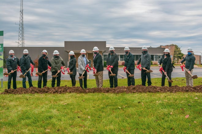 A groundbreaking ceremony was held Tuesday for the new headquarters of Boone County Electric Cooperative.