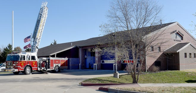 A planned new fire station in the southwest section of the city will look much like this one at 400 Green Meadows Circle.