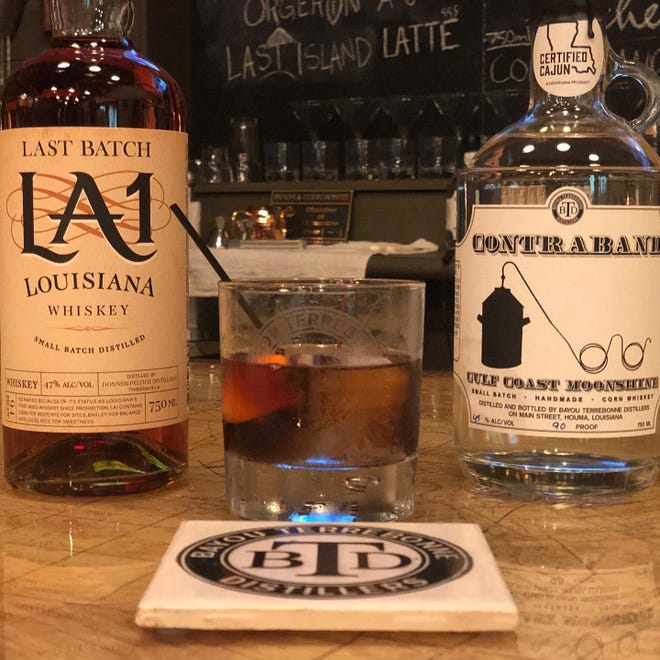 Some of the local offerings at Bayou Terrebonne Distillers in Houma include La. 1 and Contraband whiskies.