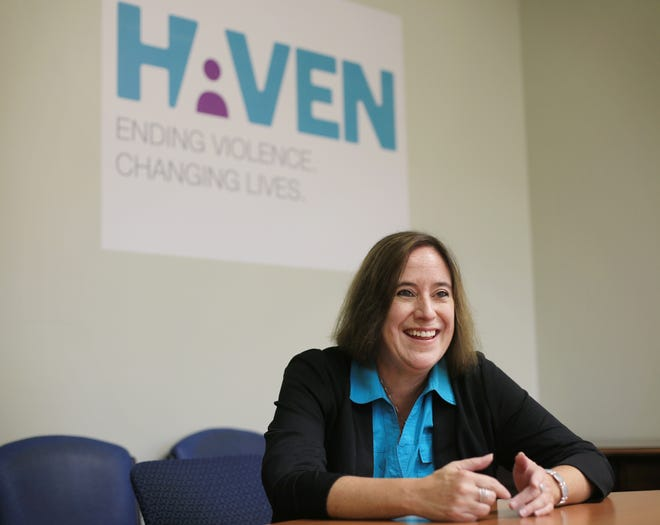 Kathy Beebe, executive director of Haven, says a $625,000 federal grant will help provide housing support and other vital services to survivors of domestic violence.