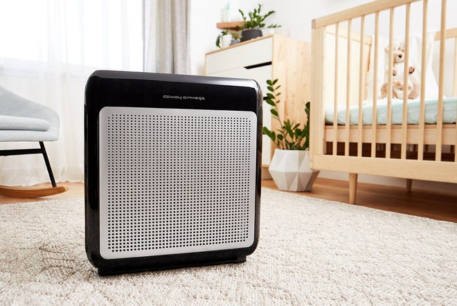 The Coway Airmega 200M is a compactfour-stage filtration air purifier that combines a pre-filter, an odor filter, a true HEPA filter and a bipolar ionizer to reduce airborne contaminants.