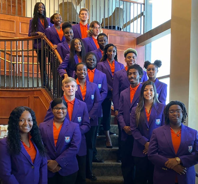 The first class of Edward Waters College's Honors College, established in 2019 in Jacksonville.