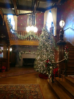 The historic Five Oaks Mansion, home of the Massillon Woman's Club, is decorated for the holiday. The club is hosting a holiday stroll fundraiser through Dec. 20.