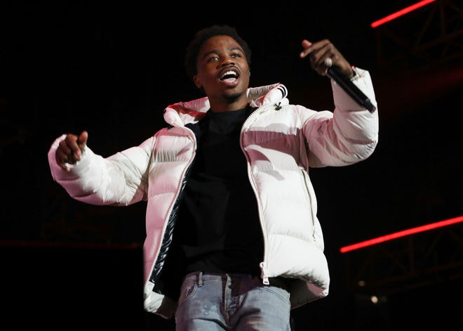 Roddy Ricch performs at the 7th annual BET Experience in Los Angeles on June 21, 2019. Ricch, Taylor Swift and Dua Lipa each earned six Grammy nominations on Tuesday.