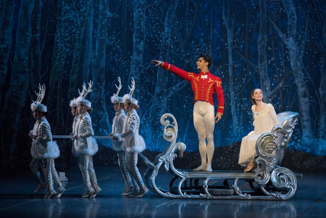 "Tigran Mkrtchyan and Mia Steedle in Boston Ballet's ""The Nutcracker."""