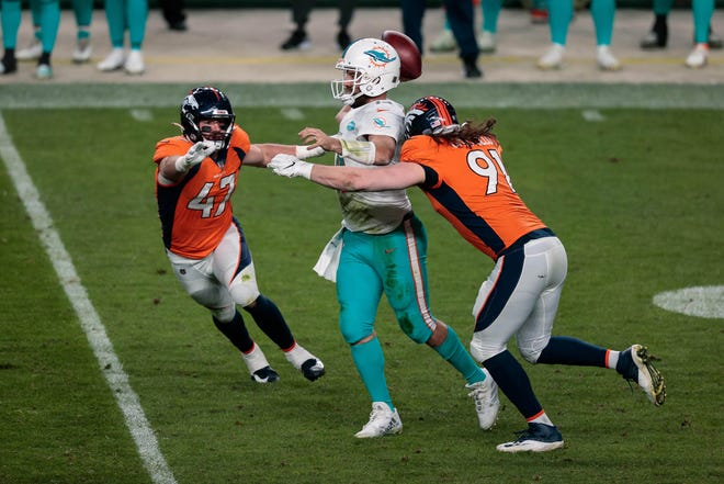 If Ryan Fitzpatrick is playing against the Jets on Sunday, like here against the Broncos last Sunday, that might not be good news for Miami.