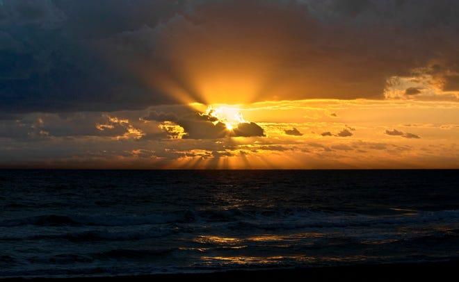 Sunrise over Palm Beach Tuesday, Nov. 24, 2020.