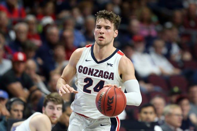 Corey Kispert and top-ranked Gonzaga open the season Thursday morning against Kansas.