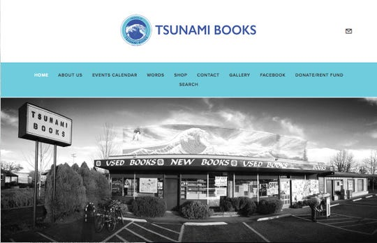 "Tsunami Books has been a staple of Eugene for 22 years and boasts ""new, used, rare and out-of-print titles at affordable prices"". Visit it at tsunamibooks.org."
