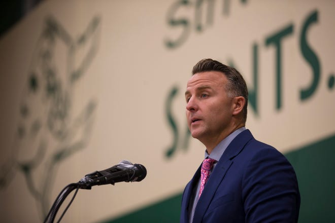 Winnebago County State's Attorney J Hanley, pictured in 2019 at Boylan's alumni awards, has begun the process of assembling his leadership team after taking office Tuesday.