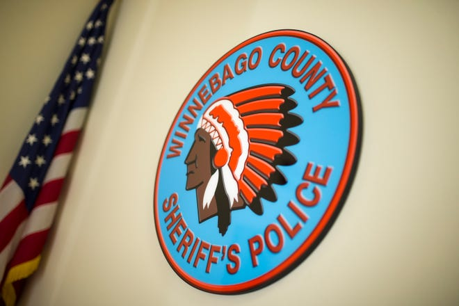 The Winnebago County Sheriff's Police logo is seen on Tuesday, Dec. 11, 2018, at Winnebago County 911 Center in Rockford.
