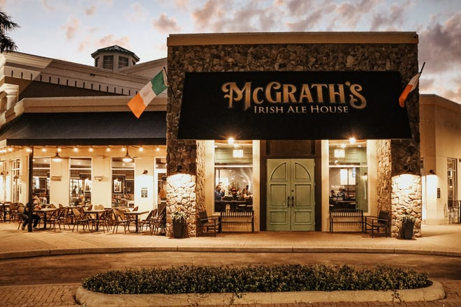 McGrath's Irish Ale has opened at 8110 Lakewood Main St. in Lakewood Ranch.The restaurant and bar is open 11 a.m. to 10 p.m. Sunday through Thursday, staying open until midnight Friday and Saturday.