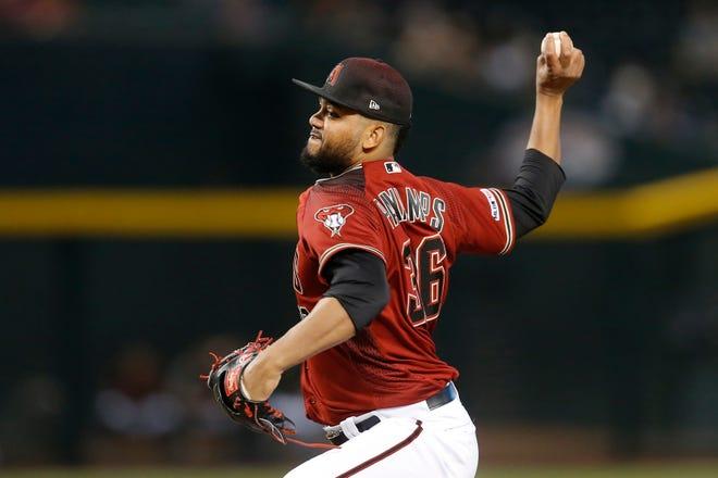The Red Sox claimed pitcher Joel Payamps from the Arizona Diamondbacks.