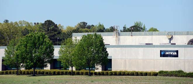The Inteva plant on Airport Road is pictured.