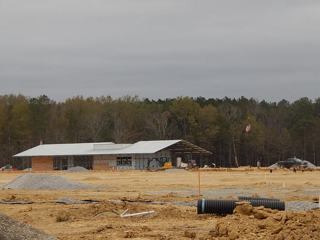 Work continues on the concession building and to prepare for soccer fields at the Etowah County Mega Sports Complex property in Rainbow City.