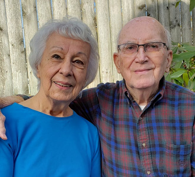 Ted Galutia and Jean Piper are celebrating their 70th wedding anniversary today.