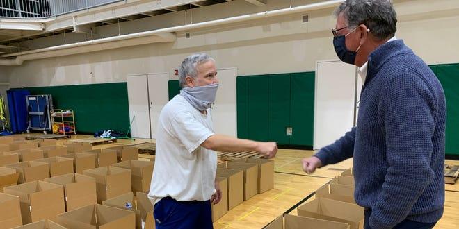 Paul Gorman, South Shore YMCA president and CEO, met with Y members and volunteers.