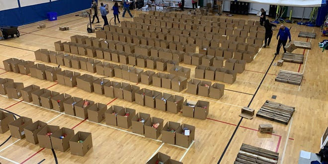 SS YMCA prepared to assemble 260 Thanksgiving meals supplied by Alma Cares.