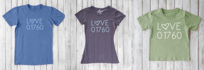 The council got a lot of calls asking where to get a LOVE 01760 T-shirt. Uni-T, with permission from Natick Center Cultural District, is now making the shirts and donating 25% of sales to NSC.