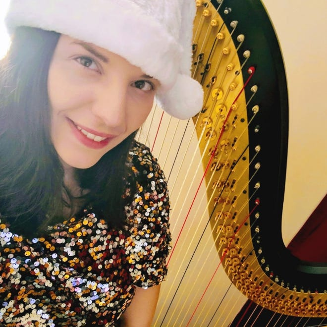 """Ventress Memorial Library will present a virtual concert """"Harping for the Holidays"""" from 2 to 3 p.m. Dec. 5."""