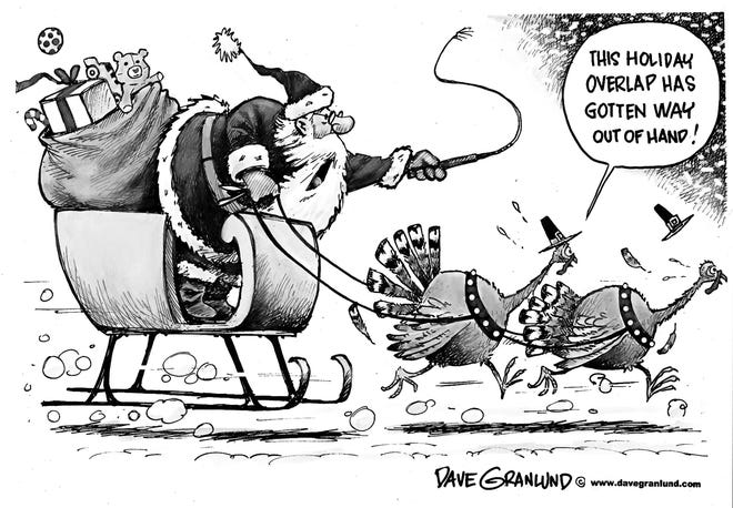 Dave Granlund's view of holiday overlap.