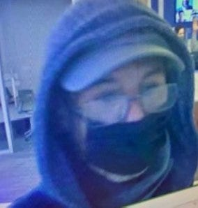 Cambridge Police Department released this photo of a suspect in this morning's bank robbery in Inman Square. He is suspected of another bank robbery on Nov. 23 in Harvard Square.