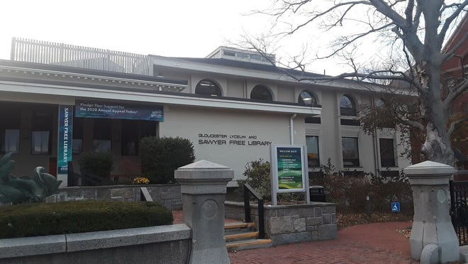 The Sawyer Free Library is open for business on Dale Avenue in Gloucester.