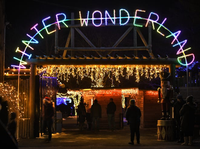 Guests arrive at Winter Wonderland at Southwick's Zoo Dec. 21, 2019. This year, guests will drive through.