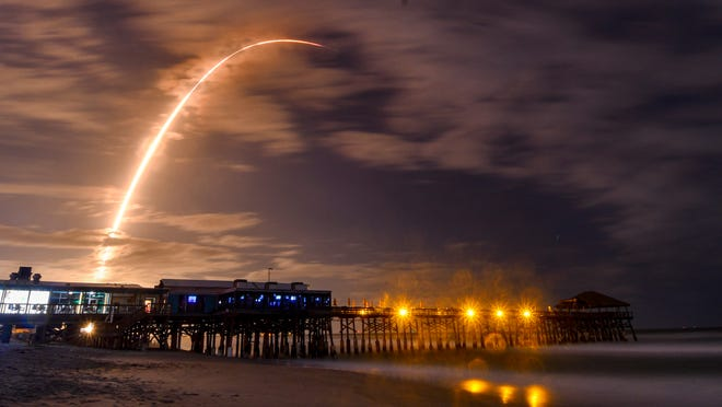 Spacex Launches 100th Mission With Fleet Leading Rocket From Florida