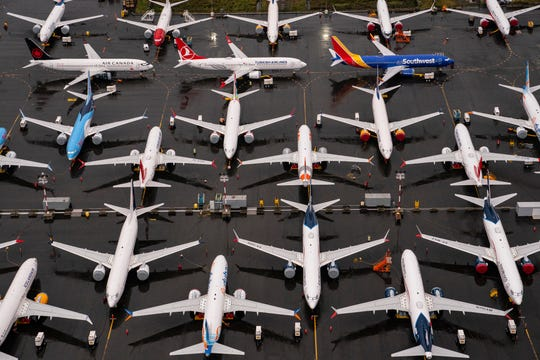 Boeing 737 MAX airplanes sit parked at the company's production facility on Nov.18, 2020 in Renton, Wa. The U.S. Federal Aviation Administration (FAA) cleared the MAX for flight after 20 months of grounding. The 737 MAX has been grounded worldwide since March 2019 after two deadly crashes in Indonesia and Ethiopia. (David Ryder/Getty Images)