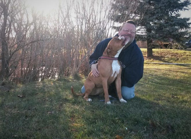 After two years living at the Fond du Lac Humane Society, Gigi found a home for Thanksgiving with Bruce Ziebell of Hartford.