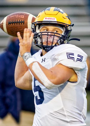 Hartland's Holden D'Arcy is the only quarterback in Livingston County to make all-region.