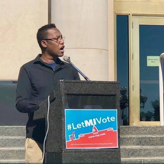 Mark A. Brown speaks in favor of the Proposition 2 Voters Not Politicians citizen-led initiative to end partisan gerrymandering in 2018.