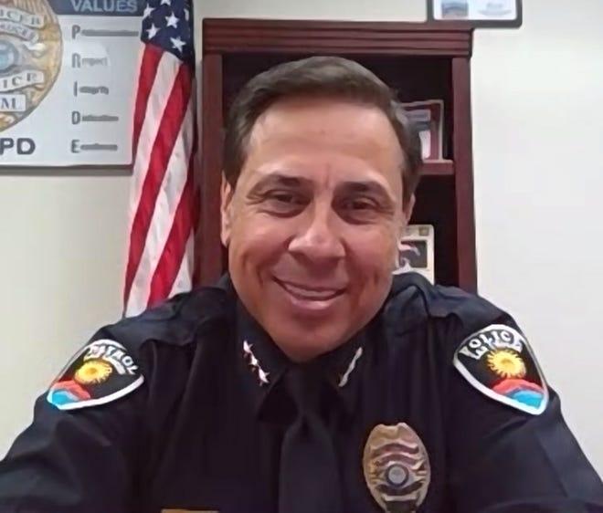 Las Cruces Police Chief Miguel Dominguez, Wed. Nov. 25, 2020.