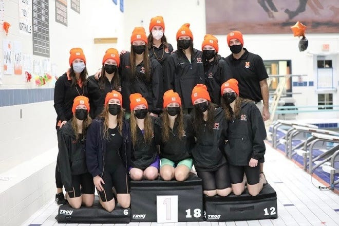 The Northville swim state team had a chance to see what it could do before the season was postponed.