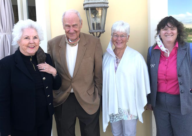 Roberta Klein, Read With Me's founder and president, joins Clay Klein, secretary; Jeannie Morris, treasurer, and Maria Gandera, superintendent of CVUSD schools, at a recent donor appreciation luncheon.