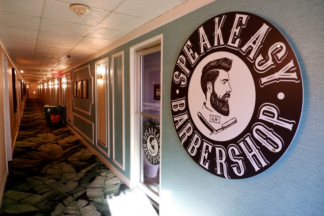 The Speakeasy Barbershop inside El Cortez.