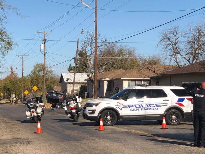 San Angelo police investigate a fatal crash near the intersection of North Howard and Coleman streets Wednesday, Nov. 25, 2020.