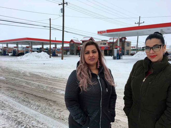 "This Jan. 23, 2019 photo released by ACLU of Montana, shows Martha ""Mimi"" Hernandez, left, and Ana Suda in Havre, Mont. Hernandez and Suda, both U.S. citizens, have settled their lawsuit with the U.S. Customs and Border Patrol."
