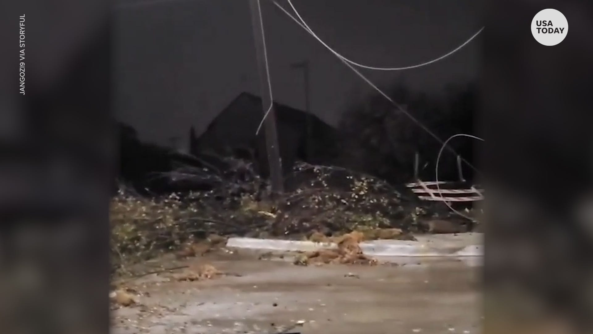 Major storm blows through Texas and causes damage just days before Thanksgiving