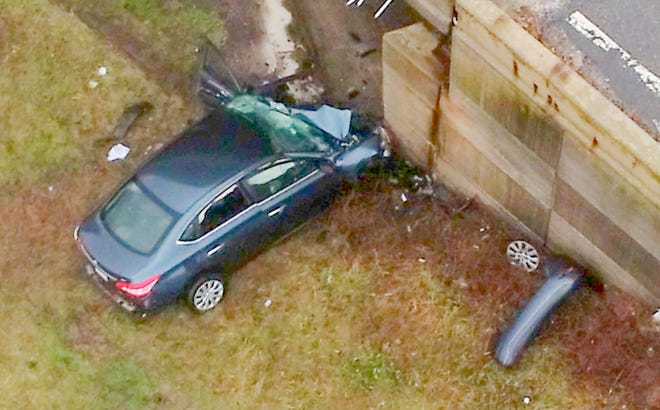 A 23-year-old Stoughton woman was killed when the car she was driving crashed into a bridge abutment near the base of the Bourne Bridge on Route 25 eastbound Thursday afternoon. The state police are investigating.