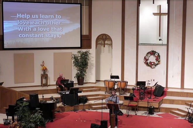 First Baptist Church in Independence, like many area churches, has continued to offer live-streamed or recorded services throughout the pandemic, even as it has allowed limited attendance.