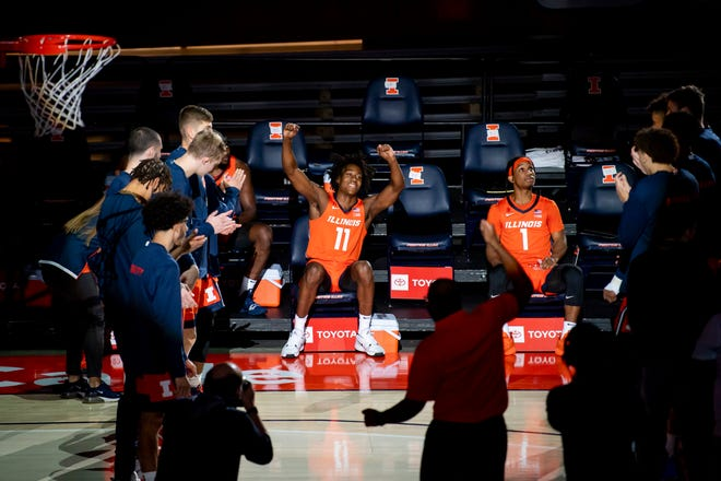 Illinois guard Ayo Dosunmu (11) says Wednesday's game against No. 2 Baylor is a 'legacy game' for the men's basketball program.