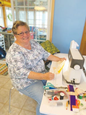 Pratt resident Debbie Withers is thankful for the usual friends and family this Thanksgiving, but she is also thankful for plenty of fabric for sewing during this year of pandemic uncertainty.