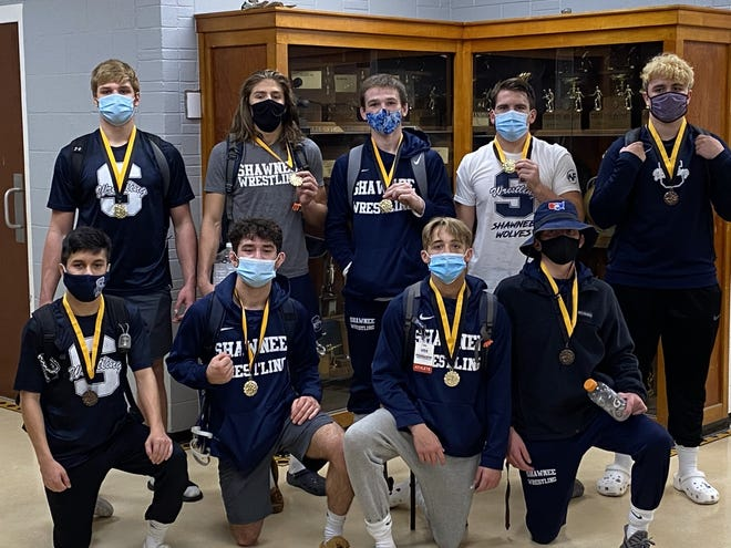 These group of Shawnee wrestlers had a lot of preseason success and looking forward to the 2020-2021 season. On the front row are: (left to right) Alex Ramos, Angelo Reyes, Sawyer Cash and Christien Taylor. Standing are: (left to right) Kyle Helie, Jordan Lomeli, Spencer Rochelle, Austin Long and Logan Cash.