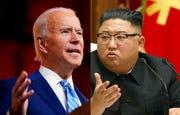 President-elect Joe Biden, left, and North Korean leader Kim Jong Un.