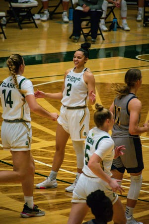 Colorado State women's basketball player Tori Williams during a 111-64 win over Regis on Wednesday, Nov. 25, 2020,  in which she matched a school record with eight 3-pointers.
