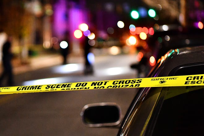 York City Police investigate a reported shooting in the 100 block of South Pershing Avenue in York City, Wednesday, Nov. 25, 2020. Dawn J. Sagert photo