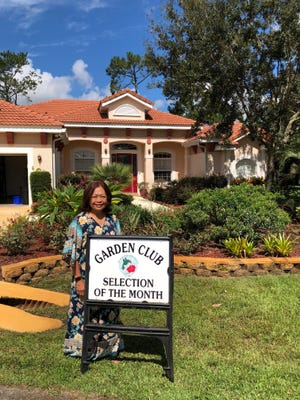 Ophie Cordero's yard was named Garden of the Month by the Garden Club at Palm Coast.
