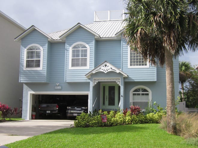 This home on North Daytona Avenue in Flagler Beach, built in 2000 two blocks from the beach, has four bedrooms and 2 1/ baths in 2,782 square feet of living space. It also has a screened balcony, a fenced backyard, a fireplace, a patio and hardwood floors, and it sold recently for $575,000.